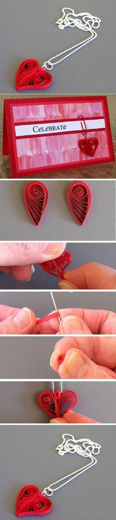 Diy Beautiful Heart Necklace | DIY & Crafts