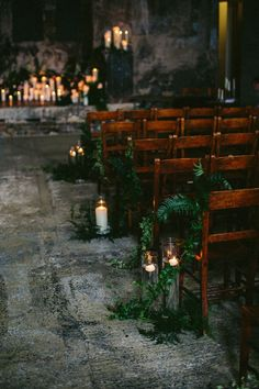 Watters wedding dress - Decorate the aisle at Pentney Abbey with foliage and tall candles in glass vases for that cosy feel at your winter wedding Wedding Ceremony Ideas, Wedding Themes, Fall Wedding, Dream Wedding, Diy Wedding, Wedding Reception, Gothic Wedding Ideas, Gothic Wedding Decorations, Wedding Vows
