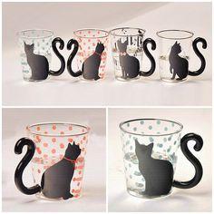BLACK CAT GLASS MUG – Fashionbonline