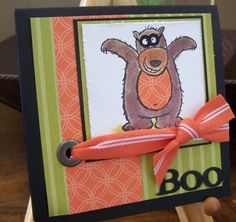 BOO-Scaryy Bear by lisahenke - Cards and Paper Crafts at Splitcoaststampers