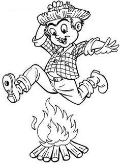 Pula fogueira desenho