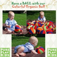 Calling all future athletes! Our colorful plush organic ball is oh-so soft and perfectly sized to help boost baby's sensory development and coordination at an early age. Our Made in the USA Organic Colorful Ball makes the baby perfect gift!