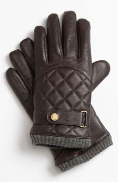 Ralph Lauren quilted leather gloves #winter