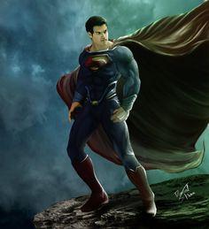 Superman-the man of steel by dansk@deviantart.com