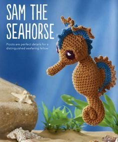 Sam the Seahorsecrochet reino compartilha um padrão livre para este indivíduo pequeno adorável. enganche feliz!