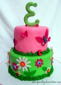 Specialty Garden Girl Birthday Cake