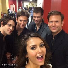 Nina Dobrev~ Apparently I have SOOOO many boyfriends. Here's four more. I'm so busy.  #tabloidsillyness