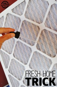 Make your own chemical free air freshener using essential oils and your existing air filter.