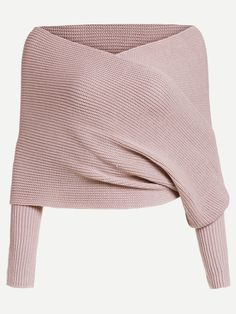 Shop Off Shoulder Cross Wrap Jumper online. SheIn offers Off Shoulder Cross Wrap Jumper & more to fit your fashionable needs. Jumper, Wrap Sweater, Bolero Sweater, Wardrobe Images, Fall Outfits, Cute Outfits, Diy Clothes, Clothes For Women, Tunic Tank Tops