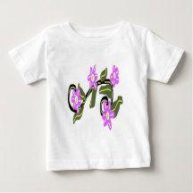 Bridal Purple Flower Design Baby T-Shirt