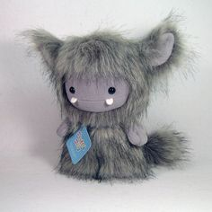 Grey Frost Monster by Stuffed Silly, Plush Toy Collectible, Soft Art Doll Yeti. $70.00, via Etsy.