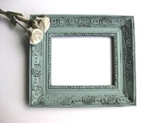 Vintage French Country Frame, Duck Egg Blue, Shabby and Chic, Paris Apartment, Picture Frame, Cottage Decor