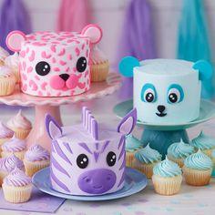 Teal Cake, Purple Cakes, Fondant Baby, Leopard Cake, Buffet Dessert, Wilton Cake Decorating, Wilton Cakes, Fondant Cakes, Cake Toppers