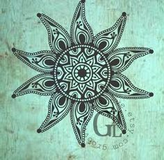 Starfish Mandala Design Instant Download for Electronic Cutters silhouette cricut vinyl digital decal hippie boho chic t shirt heat transfer by groovvykindalove on Etsy