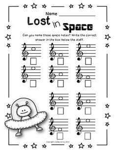TREBLE NOTE NAMES WORKSHEET PACK - TeachersPayTeachers.com