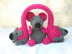 Myboshi oorwarmers en bijpassende knuffel muis