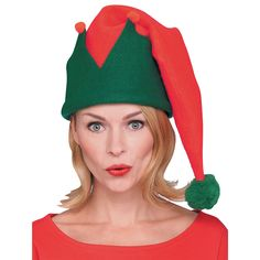 Long Christmas Elf Hat Red And Green #christmaself #santasworkshop