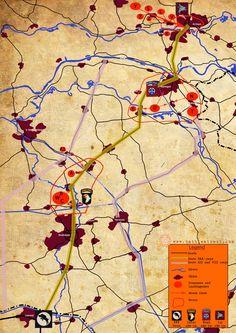 Overzicht van droppingzones en landingzones