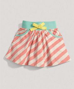 Girls Mix and Match Apricot Stripe Skirt - Girls View All - Mamas & Papas