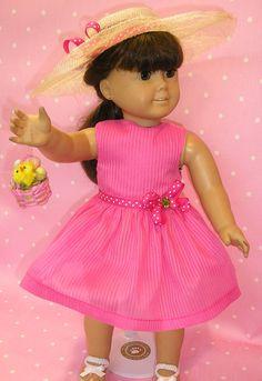 Easter dress for American Girl dolls like by NanaJerrisCreations, $24.00