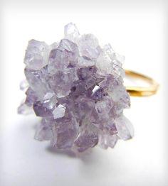 Amethyst Dahlia Ring