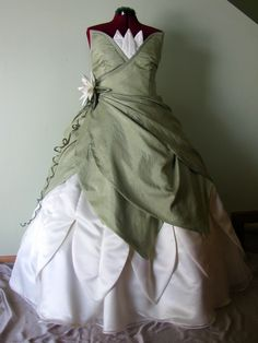 Adult Princess and the Frog Custom Costume. $700.00, via Etsy.