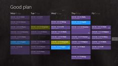 Lesson plan/timetable combined with calendar and reminder. Ideal for pupils and students.