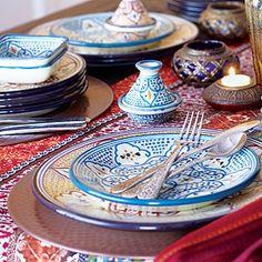 handpainted dinnerware from Tunisia, exclusive to World Market