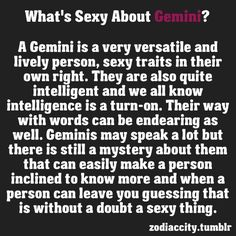 Why is Gemini sexy