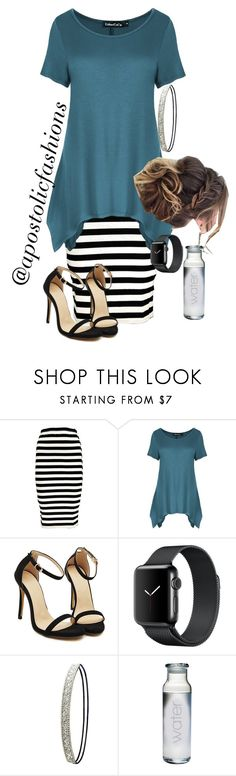 """""""Apostolic Fashions #1828"""" by apostolicfashions ❤ liked on Polyvore featuring Boohoo, Charlotte Russe and Susquehanna Glass"""