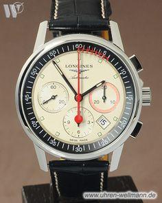 Longines Column Wheel L47544724, Herrenuhr, Stahlgehäuse, Chronograph, Automatik, Sichtboden