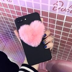 $1.79 - Lovely Love Heart Cute Hair Phone Case Cover For Iphone X 6 6S 7 8 Plus 5 5S Se #ebay #Electronics