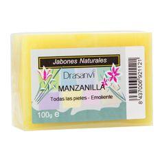 Jabón de Manzanilla. Calmante y emoliente, indicado para pieles delicadas y sensibles.