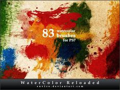 Watercolor Free Brushes Photoshop (3)