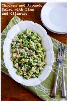Delicious Chicken & Avocado Salad With Lime & Cilantro