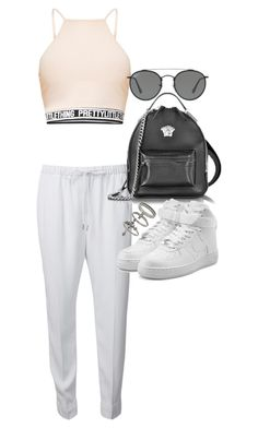 """Untitled #21710"" by florencia95 ❤ liked on Polyvore featuring Alexander Wang, Versace, Miss Selfridge, NIKE and Ray-Ban"
