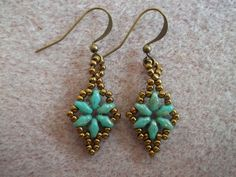 Dazzling+Duo+Earring+KIT+Turquoise+by+offthebeadedpath+on+Etsy,+$12.00