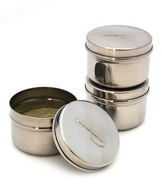 Take a look at this Kids Konserve Stainless Steel Mini Container - Set of Three on zulily today!