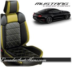 Limited Edition Mustang Leather Seat Upholstery Packages - Customize Your Own Today at canadaseatskins.com or call us toll free 1 855 289 5467 ! Free Shipping to Canada and the Continental US ! #mustang #leatherseats #freeshipping