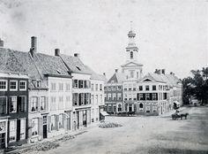 Zuidhoek van de Grote Markt, omstreeks 1870