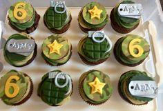 Birthday Cupcakes Boy Ideas For 2019 Camo Birthday Party, Camo Party, 3rd Birthday Cakes, Birthday Crafts, Birthday Parties, Army Cupcakes, Themed Cupcakes, Cakepops, Oreos