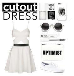 """cutout dress"" by la224 on Polyvore"