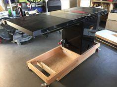 SawStop PCS table saw mobile base