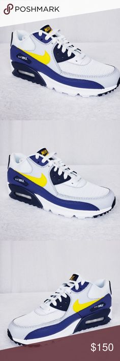 7199e6cb4f2e Nike Air Max 90 Essential Size 8 Michigan Low top men s sneaker Air bubble  heel Cushioned