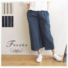 【Fanaka ファナカ】 ストライプ ワイド パンツ (61-2102-105)