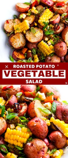 Southwest Roasted Potato Salad - Dairy Recipes - Southwest Roasted Potato Salad Something tasy, something fresh, something easy. And there's nothing easier than a one pan meal right? So here come's Southwest Roasted Potato Salad! Best Vegan Recipes, Vegetarian Recipes Easy, Quick Easy Vegan Meals, Dairy Recipes, Vegan Recipes Beginner, Roasted Potato Salads, Roasted Potatoes, Potato Vegetable, Vegetable Salad