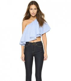One by Viva Aviva Yakura Flouncy Crop Top