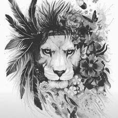 #Lion #liontattoo #lionking #lionheart #lionhearted #king #fiori #flowers #flores #floral