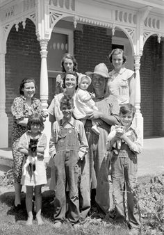 "May 1938 ""Farm family, Scioto Frams, Ohio""  Photo by Arthur Rothstein for FSA"