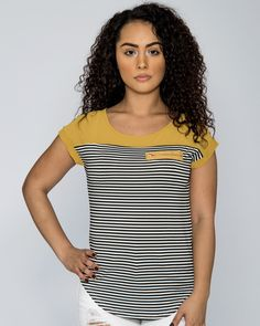 631bd7c7d0 Short Sleeve Stripe Top (Available in 4 colors)